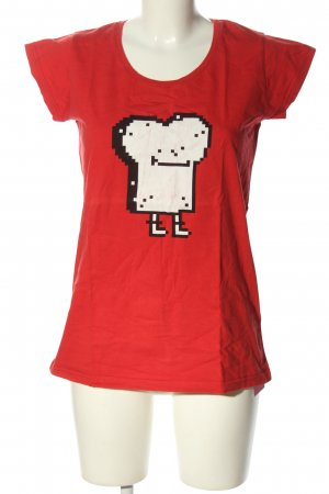 Cleptomanicx T-Shirt rot Motivdruck Casual-Look