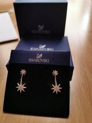 Swarovski Clip d'oreille argenté