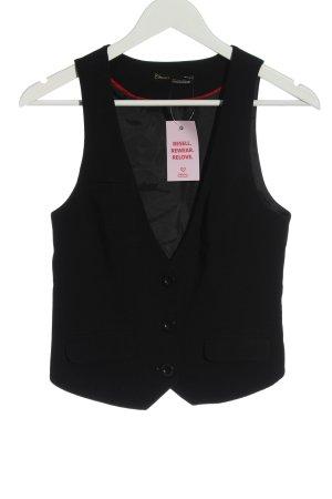 Clockhause Gilet de costume noir style d'affaires