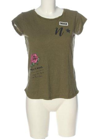 Clockhause T-Shirt khaki flower pattern casual look