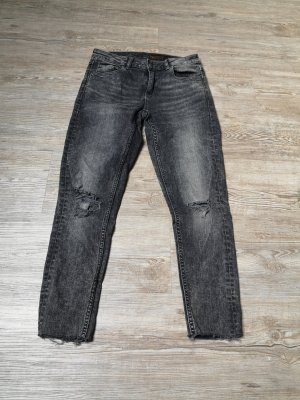Clockhouse 36 38 regular waist jeans schwarz grau used 3/4 Länge