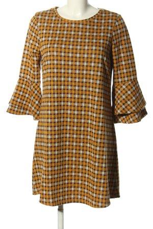 Clockhouse A-Linien Kleid blassgelb-weiß Allover-Druck Business-Look