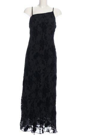 Abendkleid schwarz Allover-Druck Elegant