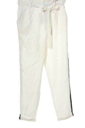 Clockhouse Luźne spodnie biały-czarny Wzór w paski W stylu casual