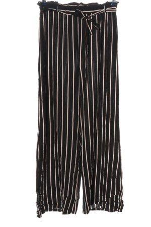Clockhouse Baggy Pants schwarz-weiß Streifenmuster Casual-Look