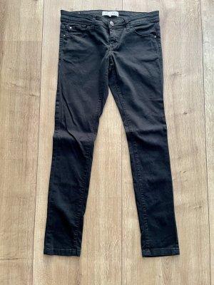 basics clockhouse Pantalon taille basse noir