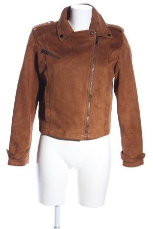 Clockhouse Giacca da motociclista marrone stile casual