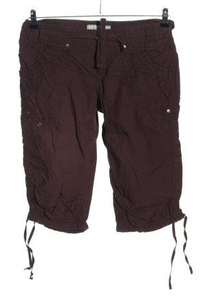 Clockhouse Pantalon capri brun style décontracté