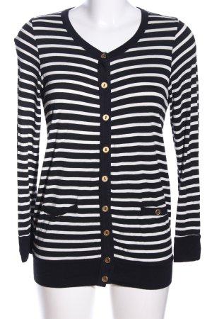 Clockhouse Cardigan schwarz-weiß Streifenmuster Casual-Look
