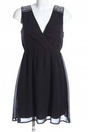 Clockhouse Chiffon jurk zwart elegant