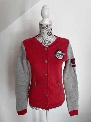 C&A Clockhouse Blouson universitaire rouge clair-gris clair