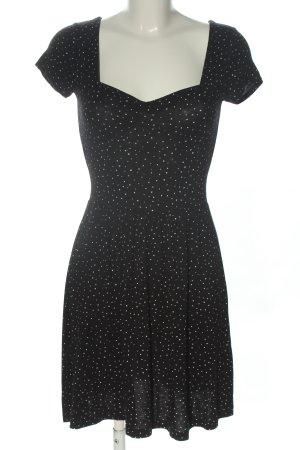 Clockhouse Jerseykleid schwarz-weiß Punktemuster Casual-Look