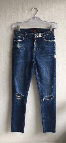 Clockhouse Destroyed Stretch Jeans Größe 34