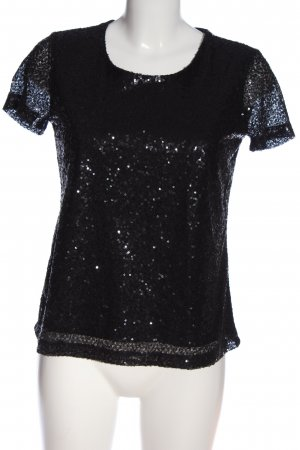 Clockhouse Glanzbluse schwarz Glitzer-Optik