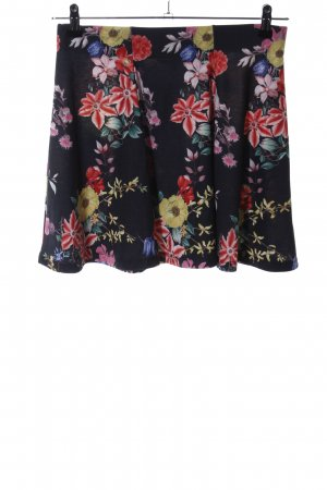 Clockhouse Flared Skirt flower pattern casual look