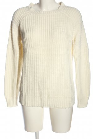 Clockhouse Grobstrickpullover creme Zopfmuster Casual-Look