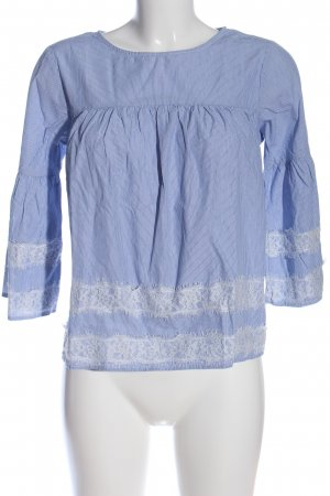 Clockhouse Hemd-Bluse blau-weiß Allover-Druck Casual-Look