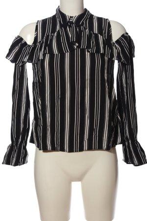 Clockhouse Hemd-Bluse schwarz-weiß Streifenmuster Business-Look
