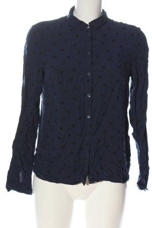 Clockhouse Camicia blusa blu-nero stampa integrale stile casual