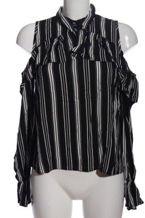 Clockhouse Hemd-Bluse schwarz-weiß Streifenmuster Casual-Look