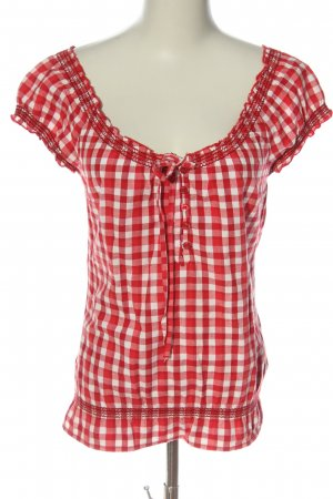 Clockhouse Hemd-Bluse rot-weiß Karomuster Casual-Look