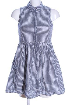 Clockhouse Shirtwaist dress blue-white striped pattern casual look