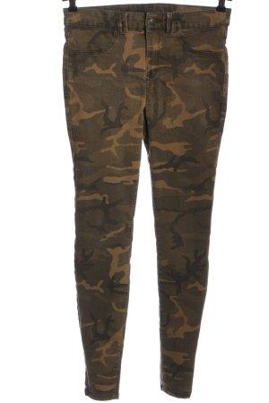 Clockhouse Slim Jeans braun Camouflagemuster Casual-Look