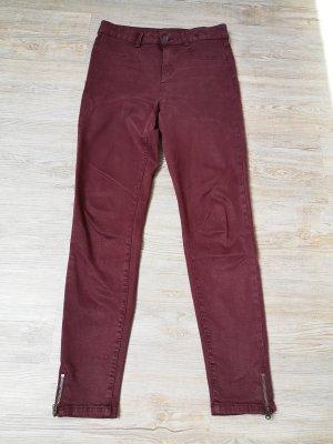 Clockhouse High Waist Jeans 36 Hose stretch lila Bordeaux