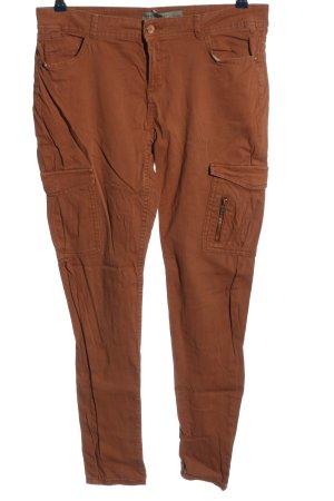 Clockhouse Pantalon taille basse brun style décontracté