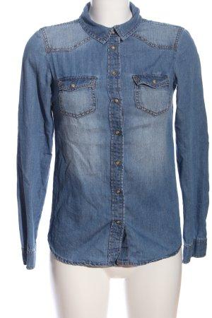 Clockhouse Jeansbluse blau Casual-Look