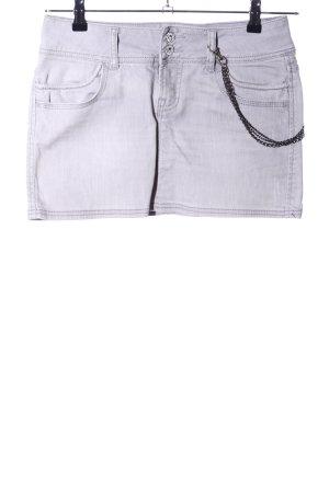 Clockhouse Gonna di jeans grigio chiaro stile festa