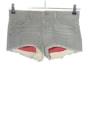 Clockhouse Pantalón corto de tela vaquera negro-blanco look casual