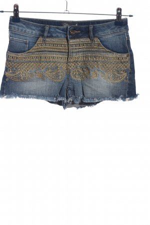 Clockhouse Jeansshorts blau-wollweiß Motivdruck Casual-Look