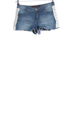 Clockhouse Jeansshorts blau-wollweiß Casual-Look