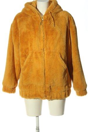 Clockhouse Fake Fur Jacket light orange casual look