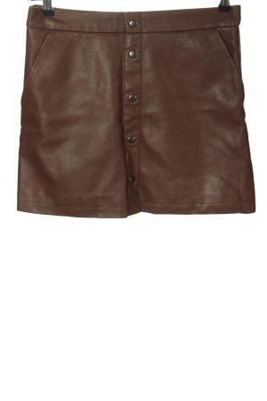 Clockhouse Spódnica z imitacji skóry brązowy W stylu casual