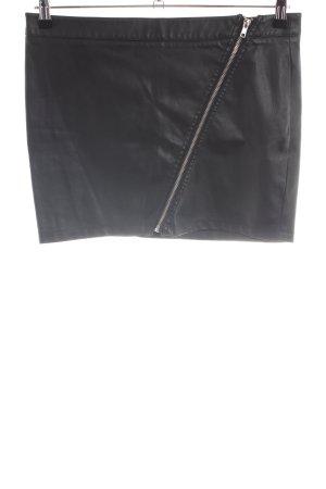 Clockhouse Rok van imitatieleder zwart casual uitstraling