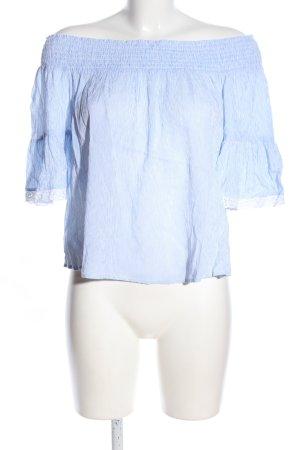 Clockhouse Kurzarm-Bluse blau-weiß Streifenmuster Casual-Look