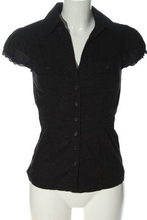 Clockhouse Camicia a maniche corte nero stile casual