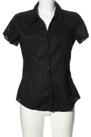 Clockhouse Shirt met korte mouwen zwart zakelijke stijl