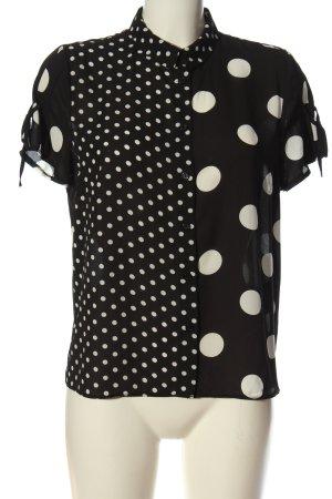 Clockhouse Camisa de manga corta negro-crema elegante