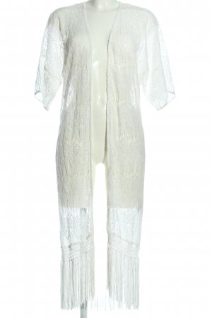 Clockhouse Cardigan a maniche corte bianco elegante