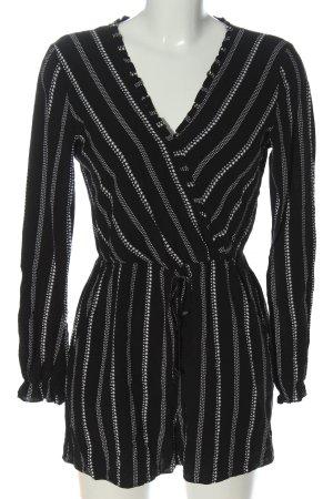 Clockhouse Kurzer Jumpsuit schwarz-weiß Streifenmuster Casual-Look
