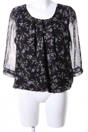 Clockhouse Langarm-Bluse Allover-Druck Casual-Look