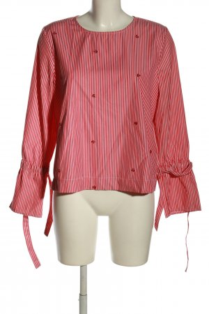 Clockhouse Langarm-Bluse rot-weiß Streifenmuster Casual-Look