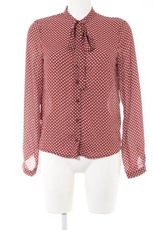 Clockhouse Langarm-Bluse rot-weiß Blumenmuster Casual-Look
