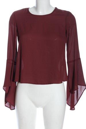 Clockhouse Long Sleeve Blouse red elegant