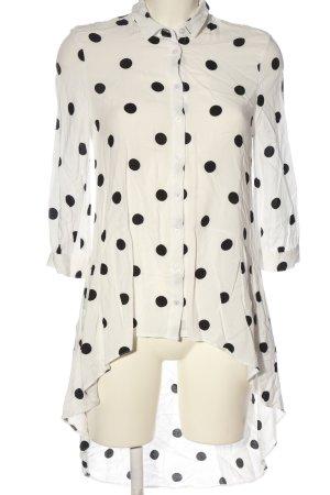 Clockhouse Langarmhemd weiß-schwarz Punktemuster Casual-Look