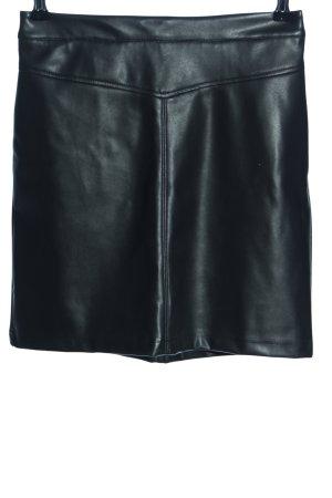 Clockhouse Spódnica z imitacji skóry czarny W stylu casual