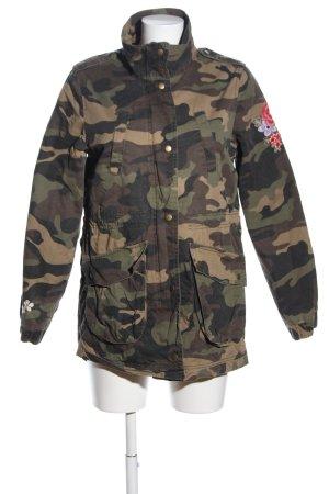 Clockhouse Military Jacket khaki camouflage pattern casual look
